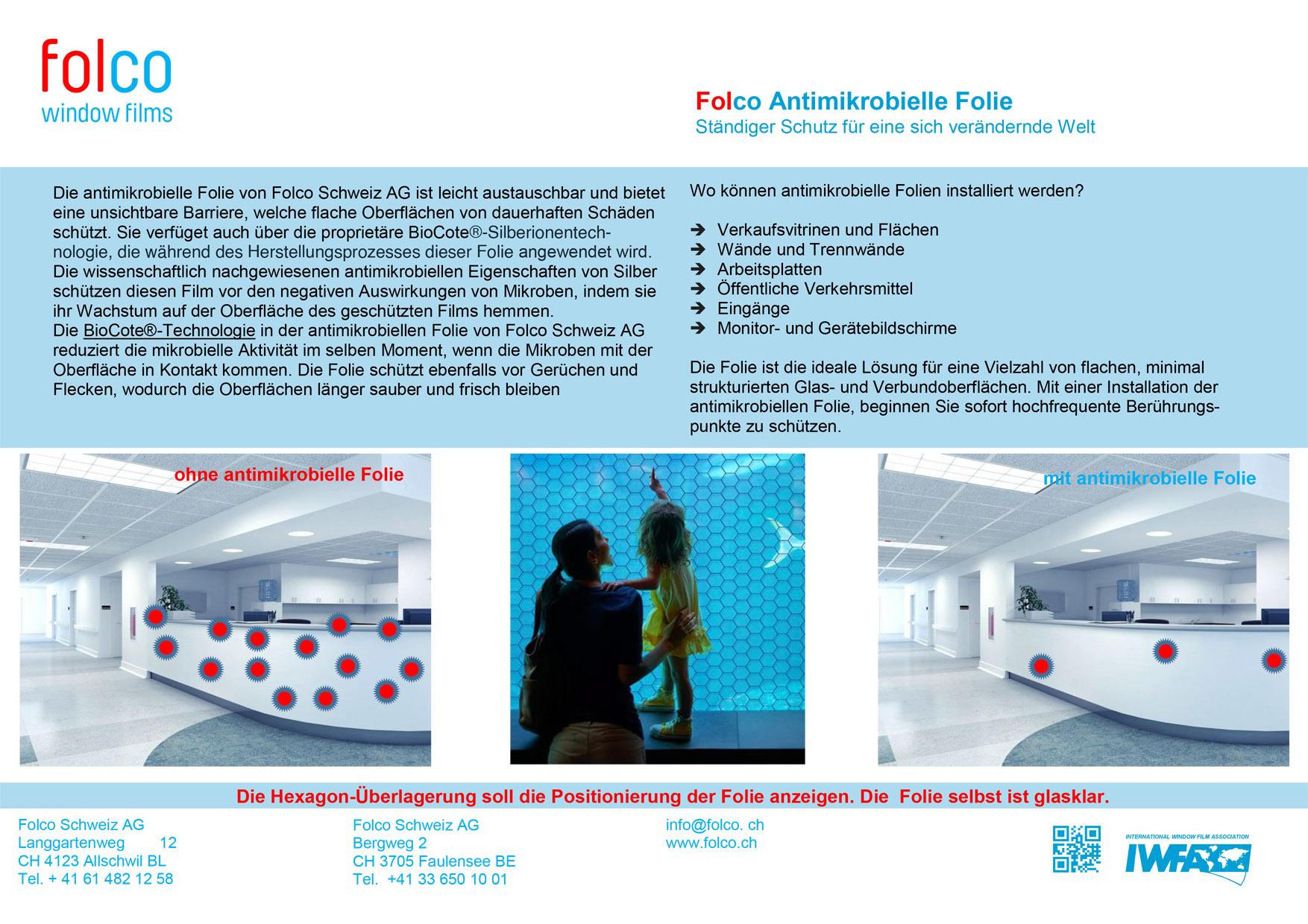 Flyer Antimikrobielle Folie  2021